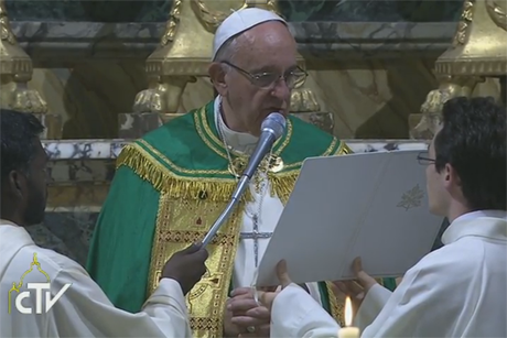 CTV-Pope -Francis -Cross -of -Nails -Iarccum -Vespers -161005