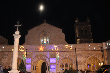 GBD_St -George -Cathedral -Jerusalem -Christmas -lights