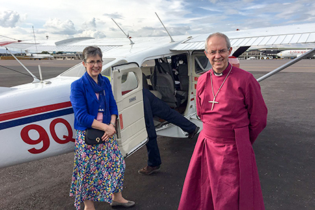 Archbishop _justin _caroline _welby _MAF_flight
