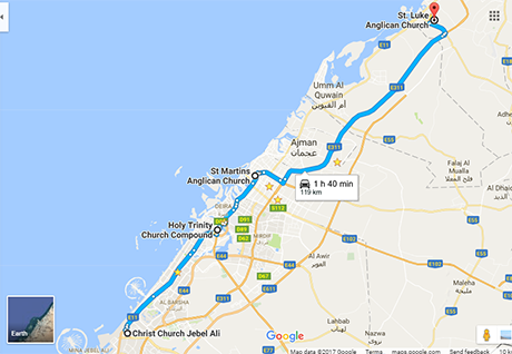Road trip for Chaplaincy in UAE to mark 15th anniversary of Christ ...