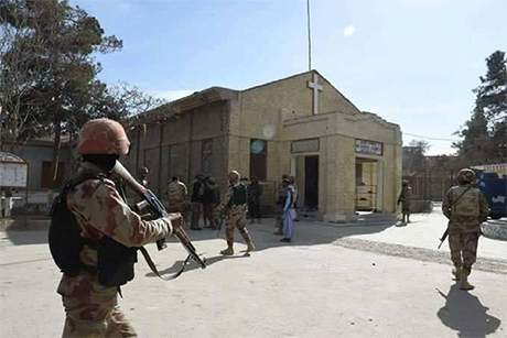 Co P-Peshawar _Quetta -Bethal -Memorial -Church -Terror -Attack -171217-soldiers -security -after -attack