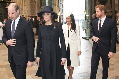 WAbbey -Picture -Partnership _Commonwealth -Day -Service -Princes -William -Harry -Katherine -Meghan -Markle _180312_460x 307