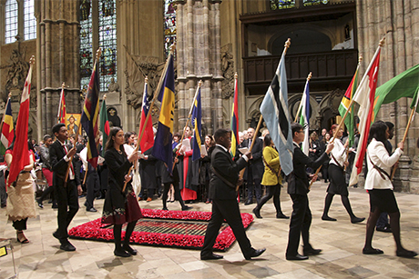WAbbey -Picture -Partnership _Commonwealth -Day -Service -flag -procession _180312_460x 307