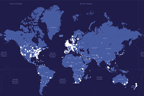 Christians across the world join together to pray thy kingdom come an interactive map on the thy kingdom come website shows lights where people have pledged to take part in the global wave of prayer gumiabroncs Choice Image