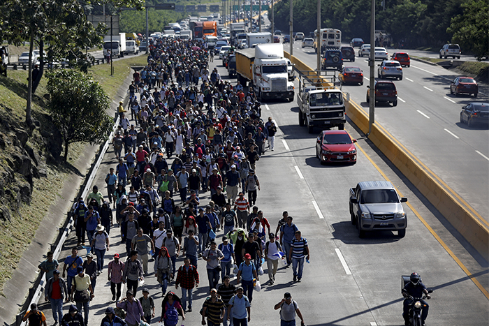 REUTERS-Jose -Cabezas _People -caravan -migrants -from -El -Salvador -to -United -States -31-October -2018_700x 467
