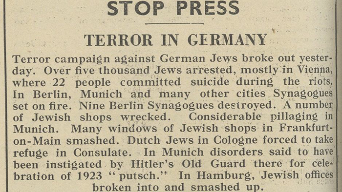 JC-Archives _Jewish -Chronicle -reports -Kristallnacht -11-Nov -1938_700x 394