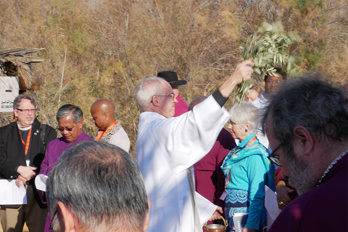 The Archbishop Of Canterbury Blesses The Primates With Water Taken The River Jordan